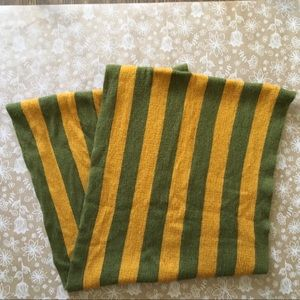 Olive green and mustard infinity scarf!